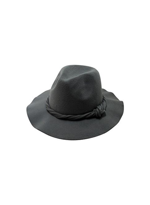 Laslusa İçten Ayarlanabilir Keçe Fötr Şapka Gri
